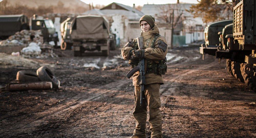 Miliciano de la RPD cerca de Debáltsevo (Archivo)