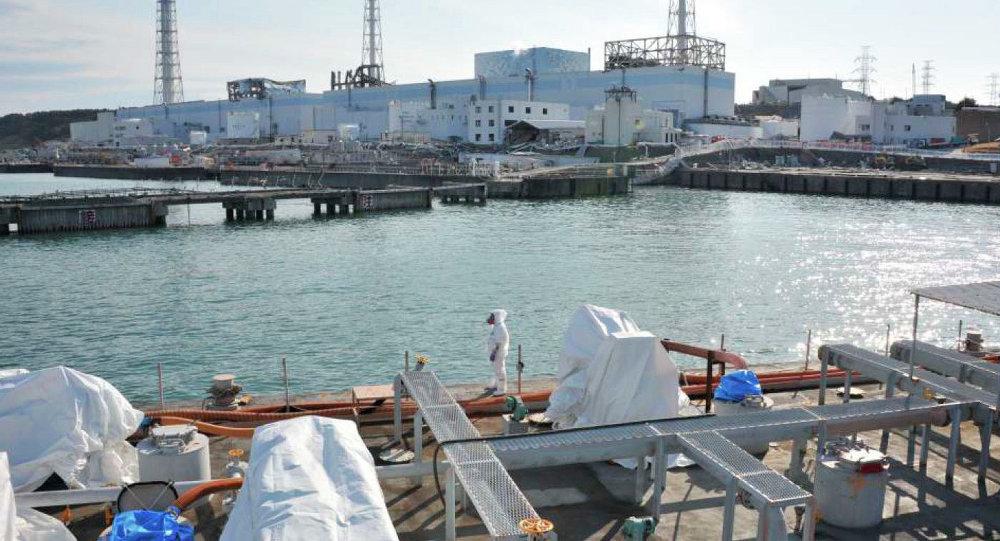 Descontaminación de agua cerca la estación nuclear Fukushima-1