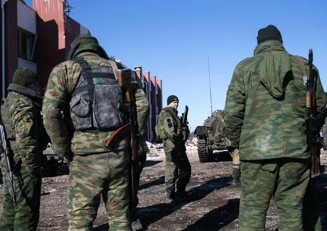Militares ucranianos en Debáltsevo