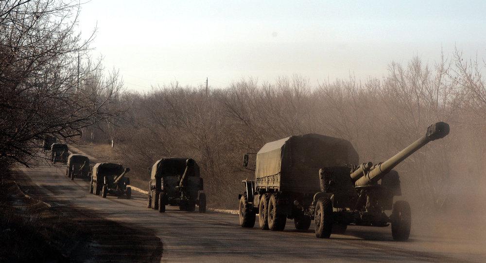 Artillería pesada de las milicias de la RPD