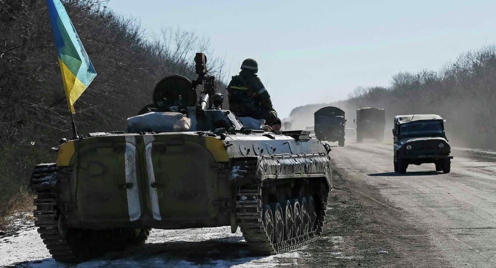 Soldados ucranianos cerca de la ciudad de Artiómovsk