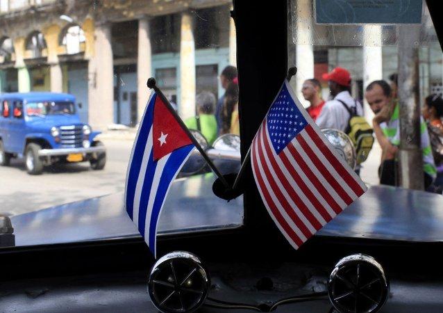 Banderas de Cuba y EEUU