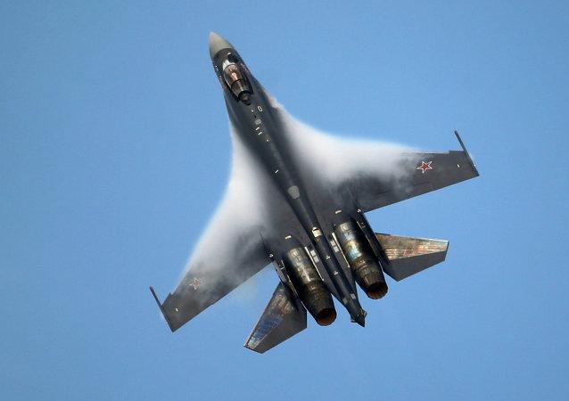 Un caza ruso Su-35