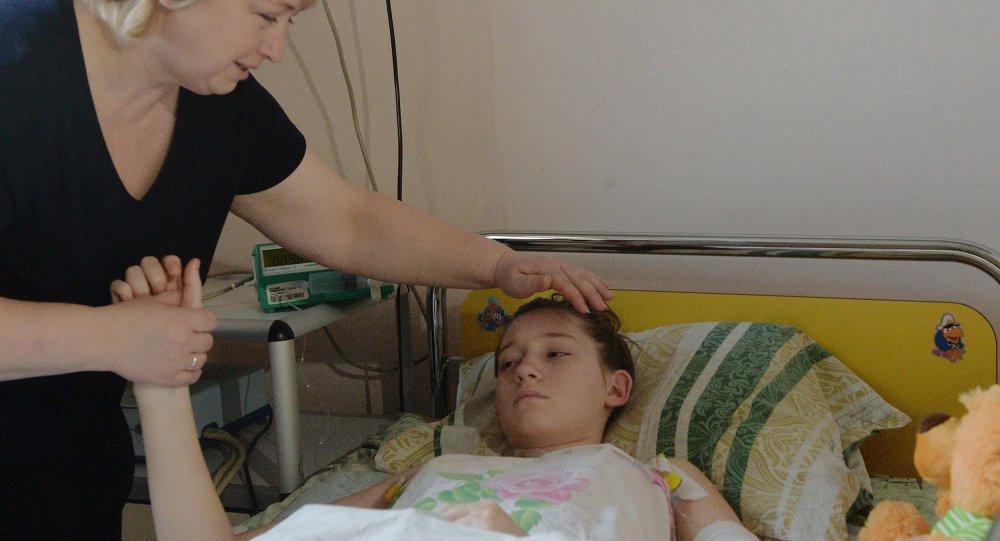 Oksana Voynarovskaya, resultó herido por los bombardeos de Donetsk