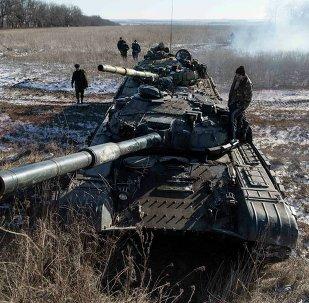 Tanque de las milicias de Donbás