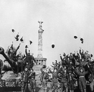 Soldados soviéticos en Berlín, 9 de mayo 1945