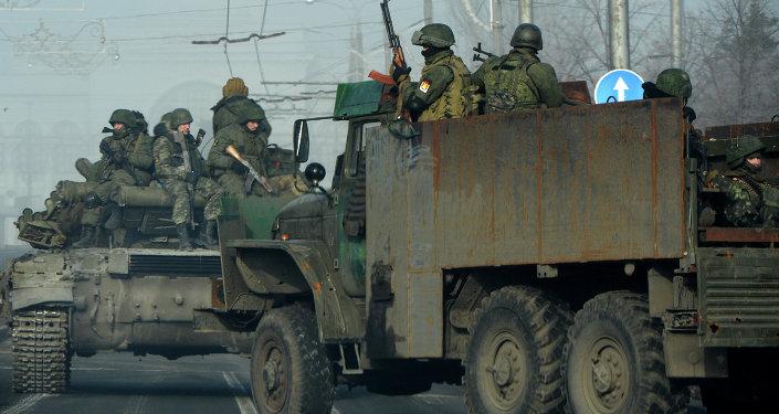 Milicias en el este de Ucrania