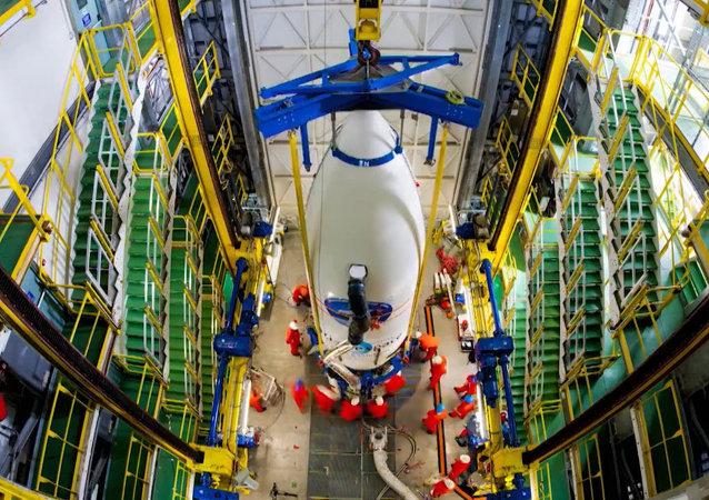 Preparación del lanzamiento de la nave no pilotada IXV del puerto espacial de Kourou en 74 segundos