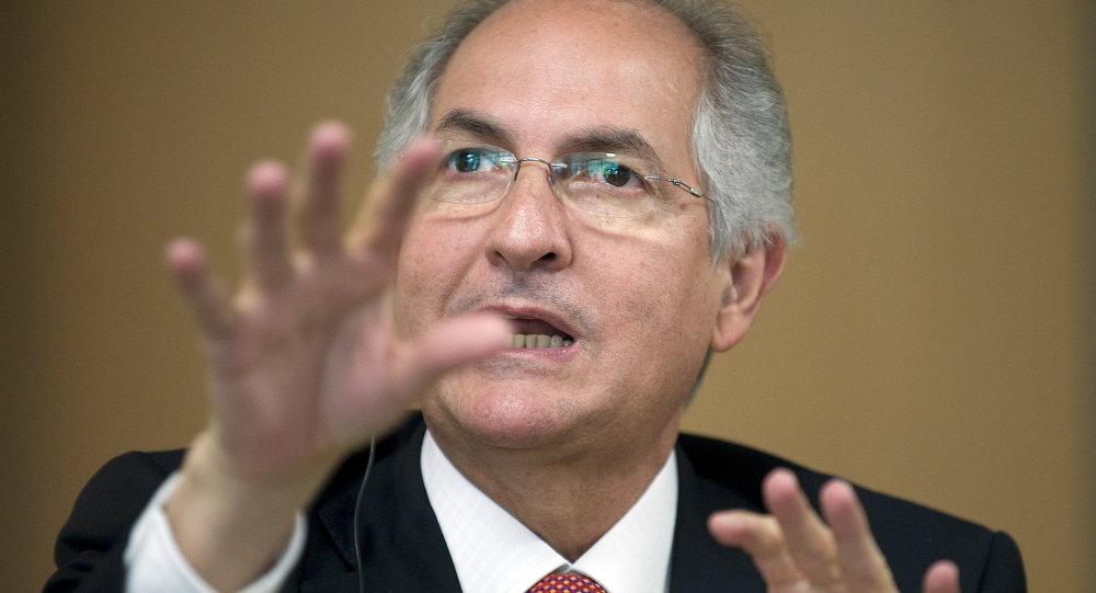 Antonio Ledezma, el exalcalde metropolitano de Caracas y líder opositor venezolano