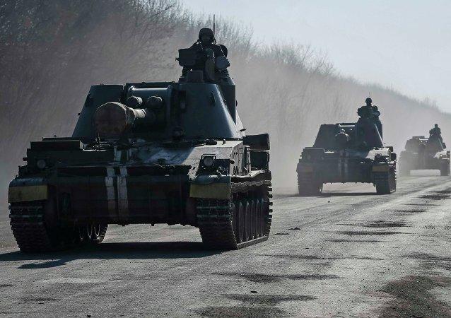 Soldados ucranianos cerca de Artiómovsk