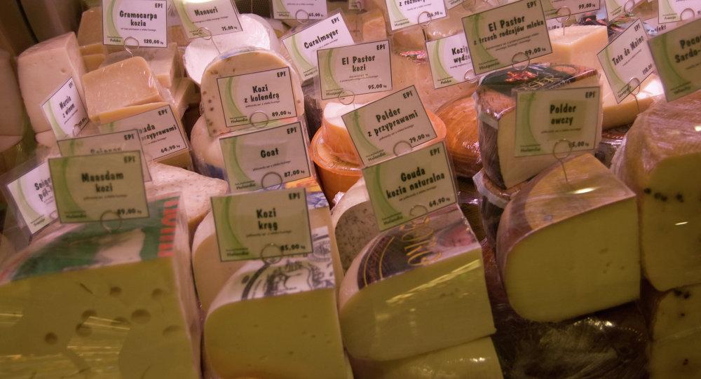 Venta de queso en Wroclaw