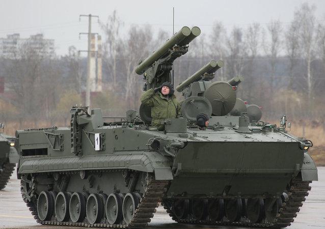 Sistema antitanque ruso Crisantemo-S