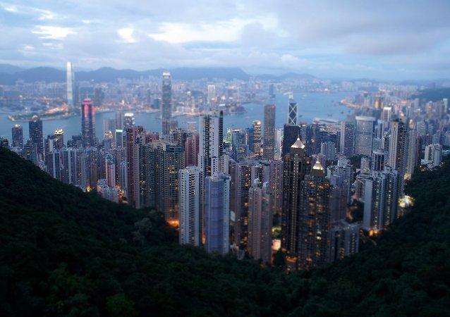 La ciudad de Hong Kong, China