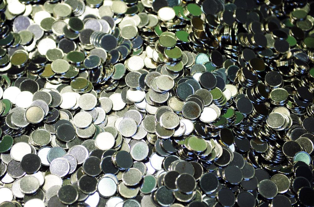 Fabricación de monedas en la Casa de Moneda de Moscú (Archivo)