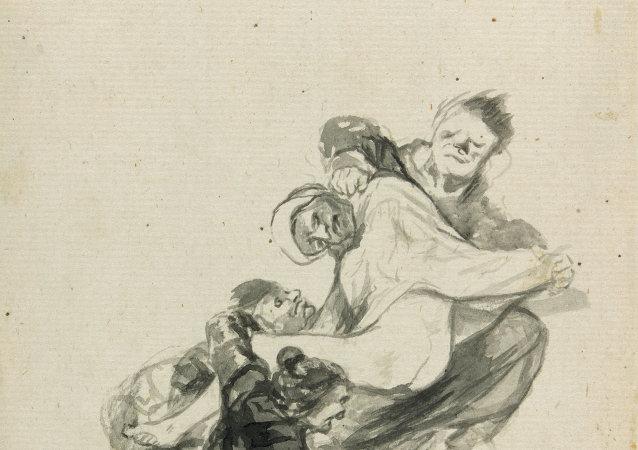 Francisco Goya. Dream of Flogging