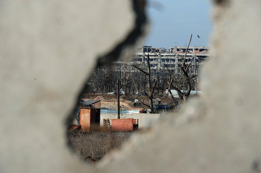 El aeropuerto de Donetsk destruido durante los combates