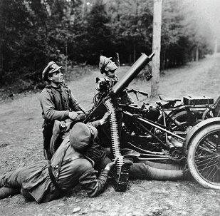Soldados del Ejército ruso en la I Guerra Mundial