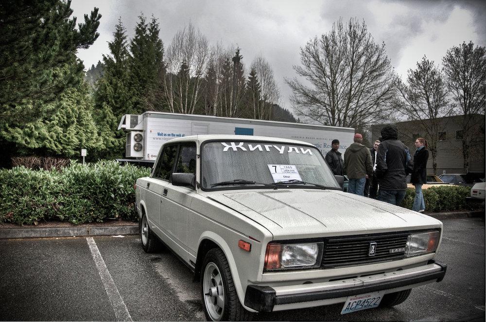 Un Lada ruso en la ciudad de Bellevue, estado de Washington, EEUU