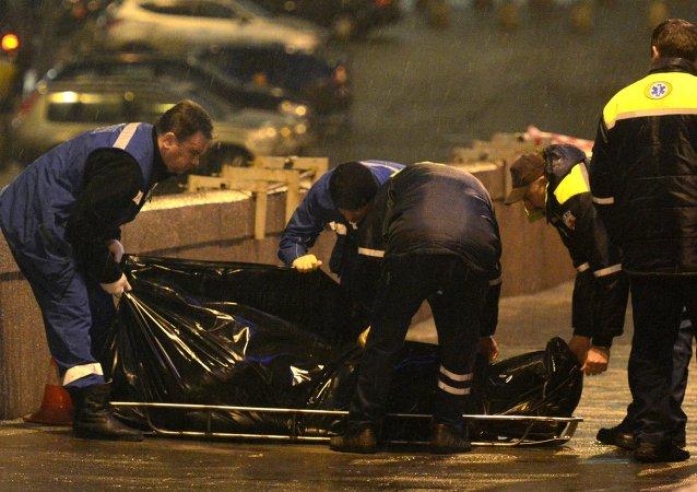 Lugar del asesinato del opositor ruso Borís Nemtsov