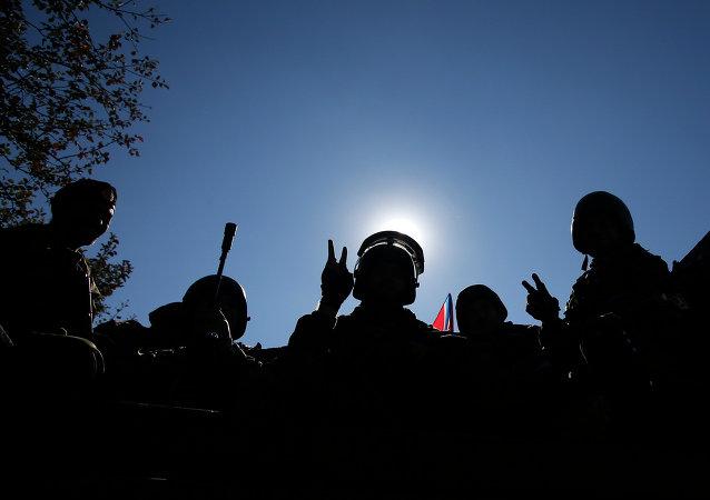Milicianos del este de Ucrania (Archivo)