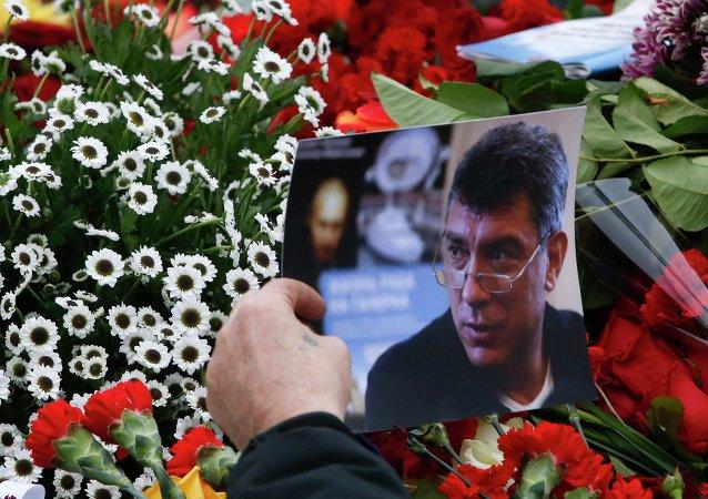 Ceremonia de despedida con Borís Nemtsov