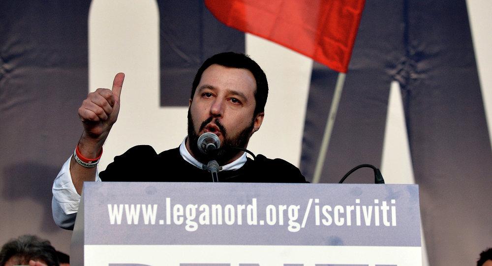 Matteo Salvini, líder de Liga Norte