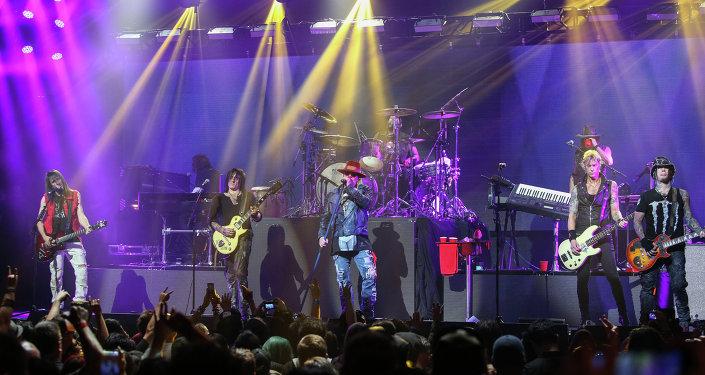 Guns N' Roses en el concierto (archivo)