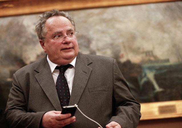 Nikos Kotzias, ministro de Exteriores de Grecia