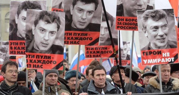 Marcha fúnebre en homenaje al opositor Borís Nemtsov