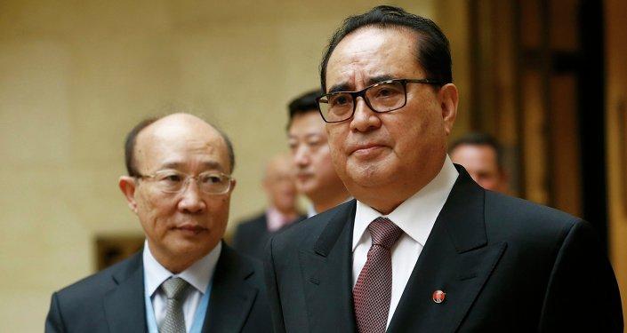 Ri Su Yong, ministro de Asuntos Exteriores de Corea del Norte
