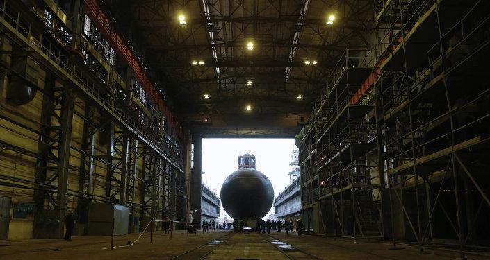 Botadura del submarino Novorossisk, noviembre del 2013