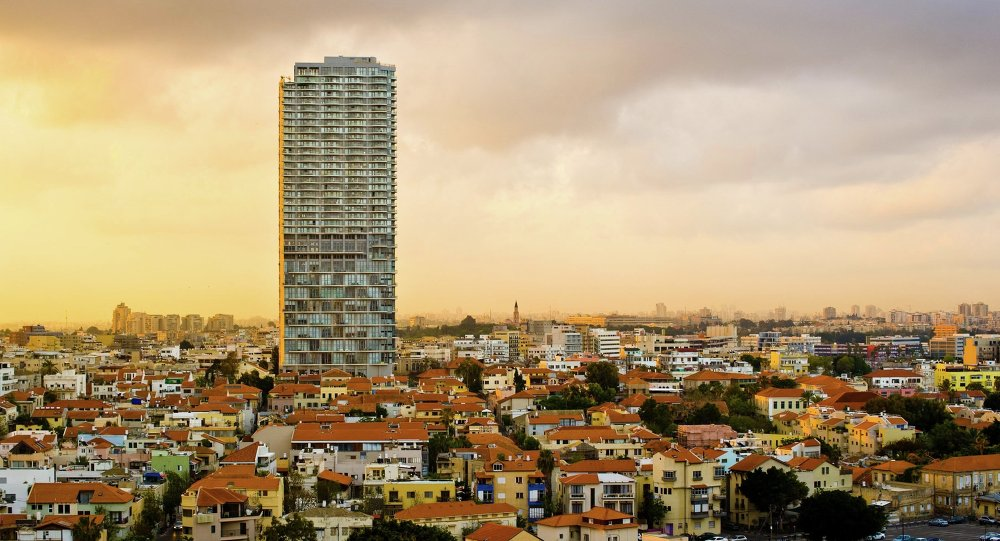 La ciudad de Tel Aviv, Israel