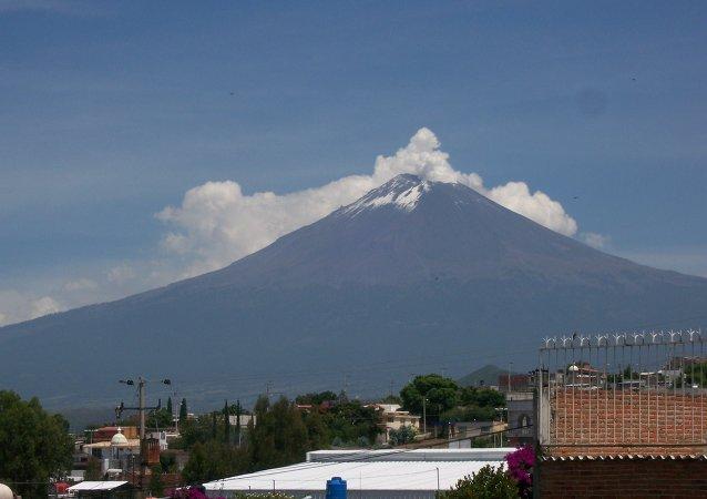 Pueblos cerca del volcán Popocatépetl