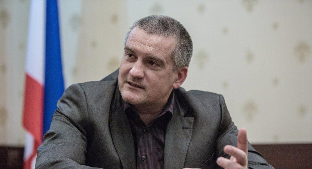 Serguéi Aksiónov, político ruso, líder de la República de Crimea.