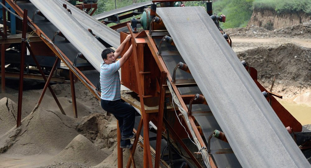 Mina de hierro en China