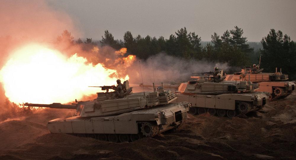 Carro de combate M1A2 en Letonia