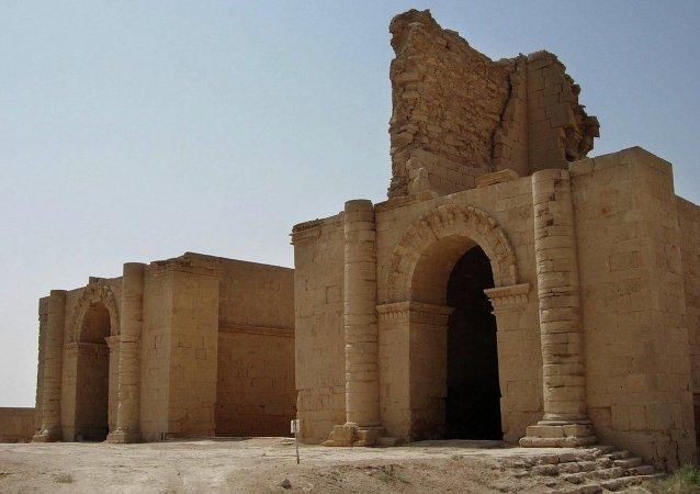 Uno de los templos de la antigua ciudad de Hatra (Irak). Archivo