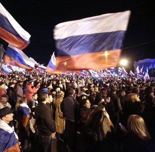 Un concierto en el centro de Simferopol en honor del referéndum sobre el estatuto de Crimea (archivo)