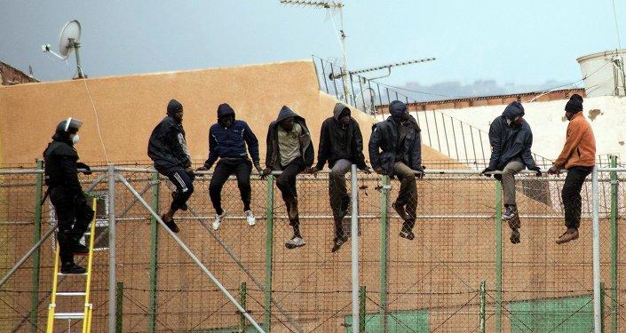 Inmigrantes ilegales en Melilla