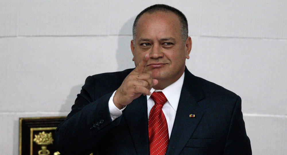 Diosdado Cabello, diputado oficialista venezolano de la Asamblea Nacional (archivo)