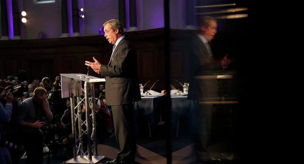 Líder de UKIP, Nigel Farage, anuncia la política del partido en materia de inmigración