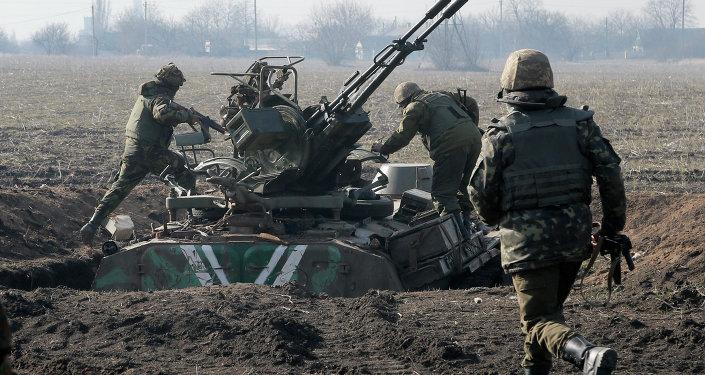 Militares ucranianos en Donbás