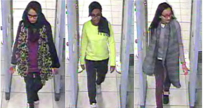 Tres colegialas británicas que viajaron a través de Turquía a Siria para unirse al grupo terrorista Estado Islámico