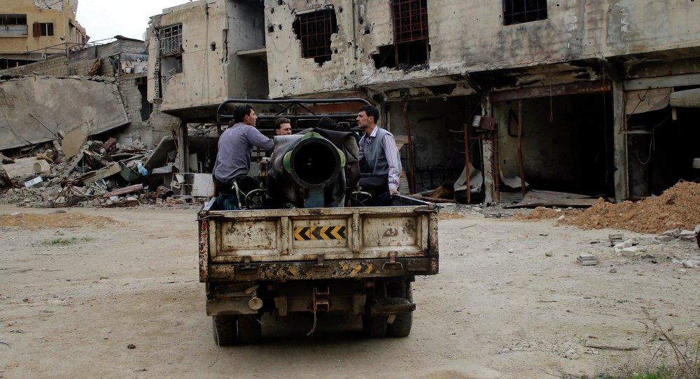 Combatientes rebeldes del Ejército Libre de Siria