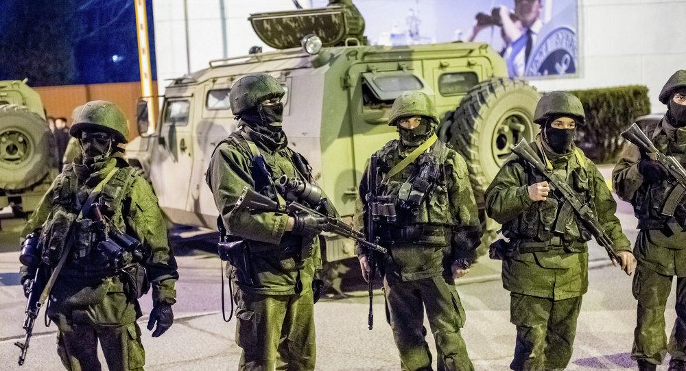 Militares rusos en Crimea (archivo)