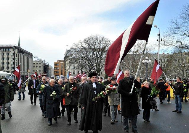 Marcha de veteranos de las Waffen-SS en Riga