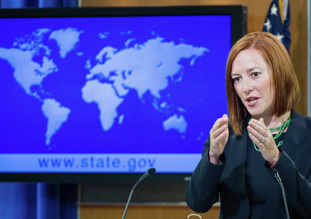 Jennifer Psaki, Portavoz del Departamento de Estado