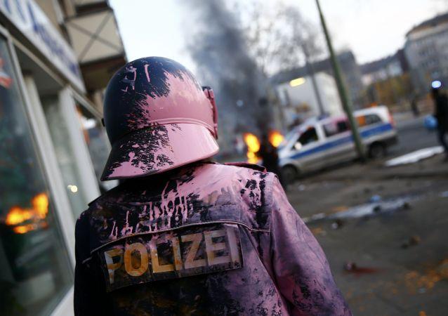 Disturbios en Fráncfort en las protestas contra el BCE (Archive)