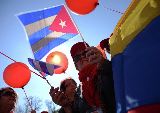 Las banderas de Cuba y Venezuela (archivo)