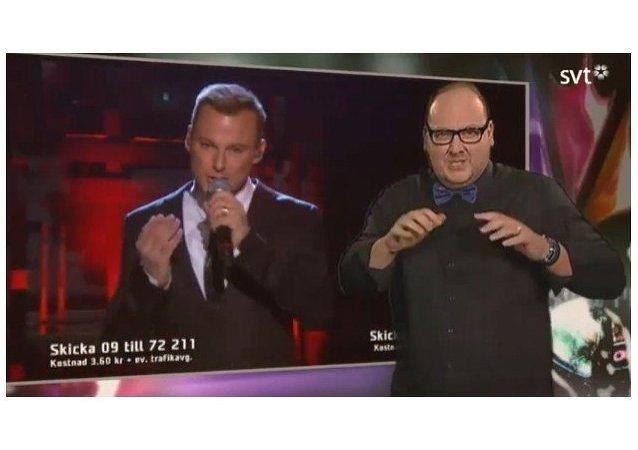 """Tommy Krangh, la estrella que """"cantó"""" en Eurovisión con el lenguaje de señas"""